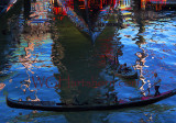 Venezia Gondoliers Abstract