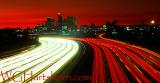 L A Freeways 2 Fiery Sunset