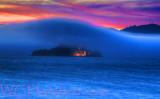 Alcatraz Foggy Sunset