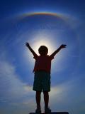 Circumzenithal Arc Rainbow Silhouette