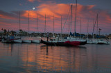 Naples Moonrise Sunset