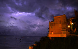 Positano Harbor Lightning