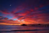 Newport Pier Moonlight Sundown