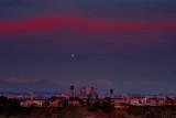L A Winter Sunset Moonlight