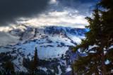 Clouds Caressing Mount Rainier