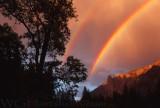 Yosemite Meadow Double Rainbow