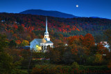Autumn Moonrise Stowe Vermont