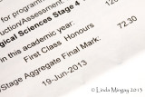 4th July 2013 - Linda Mingay BSc Hons (First Class)