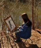 An Artist at the Pond
