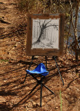 Charcoal Sketch created by the Pond