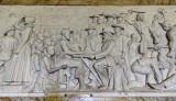 Marble frieze in the Voortrekker Monument showing scenes of the Great Trek