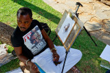 A street artist at the Union Buildings
