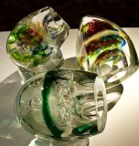 26.  Glass sculptures at Wheaton Village.