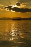 42.  Sunset over Lake Champlain.
