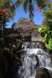 7.  A park waterfall along Waikiki Beach.