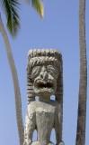 23.  A tiki at Pu'uhonua o Honaunau, the sanctuary.