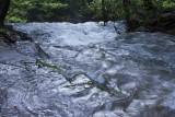3.  A swollen creek headed for the lip of Bridal Veil Falls