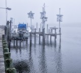 9.  A morning fog at Cotov's Landing, Beach Haven.