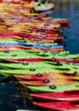 21.  A Lensbaby treatment of rental kayaks.