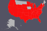 Updated map of U.S. Capitols Photographed