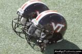 Virginia Tech Hokies helmets