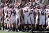 Virginia Tech team huddle