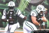 New York Jets QB Michael Vick hands off to RB Chad Young