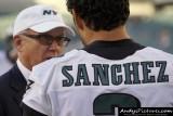 NY Jets owner Woody Johnson with Philadelphia Eagles QB Mark Sanchez