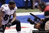 Baltimore Ravens WR Steve Smith & CBS Cameraman Paul Connolly