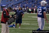 CBS Sports cameraman Paul Connolly & Indianapolis Colts QB Andrew Luck