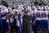 Buffalo Bills team huddle