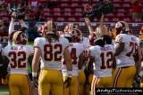 Washington Redskins huddle
