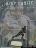 Johnny Manziel Heisman Trophy display at Kyle Field