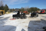 Snowmobiles in the Yard