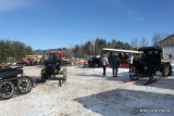 Snowmobile in the Yard