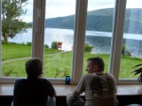 Enjoying the view at the YHA