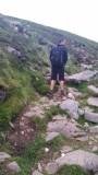 Ben Nevis Descent - John leaving a scent trail