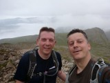 Scafell Peak Ascent - Brian and I - selfie!