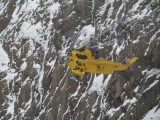 Photos of an actual rescue, man fell 30ft off snow covered edge