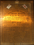 First World War Roll of Honour from the North East Railway Mileage Office