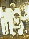With my grandfather at my first communion