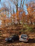 Nov 17th - Parked cars at Swains Lock