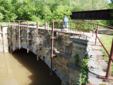 Sideling Creek Aqueduct with the abandoned WMRT bridge behind