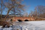 Frozen creek at the Seneca Creek Aqueduct