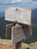 Trail Marker on Mt. Lafayette