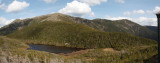 Panorama - Eagle Lake and Franconia Ridge from Greenleaf hut