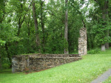 Remains of lockhouse at lock 57