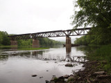 Abandoned WMRT bridge across the Potomac