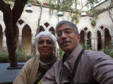 Selfie with a real camera in the Cloisters, Sorrento, June 2016