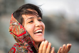 Laughing Turkoman woman - Bandar Torkaman